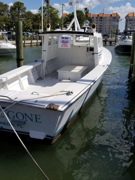 Boat Hull Cleaning. Dunedin. Tampa Bay Florida. Alex's Dive Service Inc.