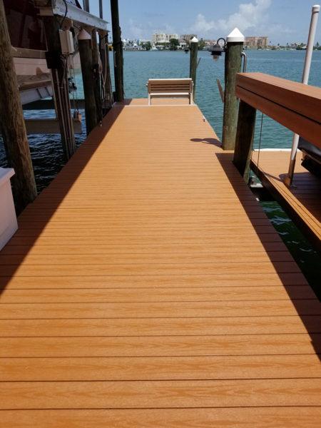 Dock repair. Wrap. Clearwater. Tampa Bay Florida. Alex's Dive Service Inc.